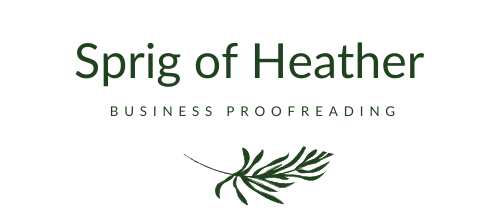 Specialist Business Proofreading Logo