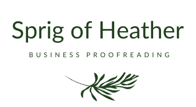 Sprig of Heather Business Proofreading
