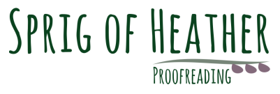 Sprig of Heather Proofreading Logo