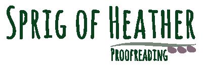 Sprig of Heather Proofreading Logo